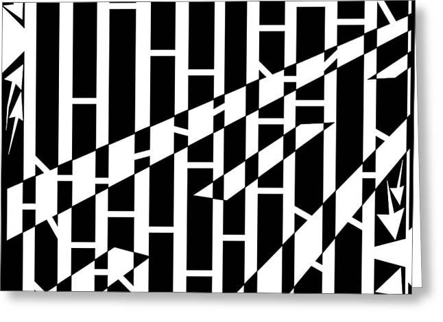 Abstract Distortion Driving Road Maze  Greeting Card