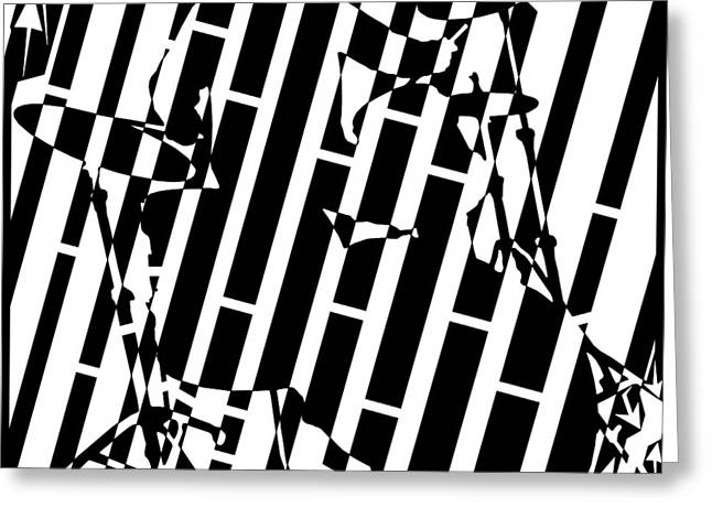 Abstract Distortion Drummer Maze  Greeting Card