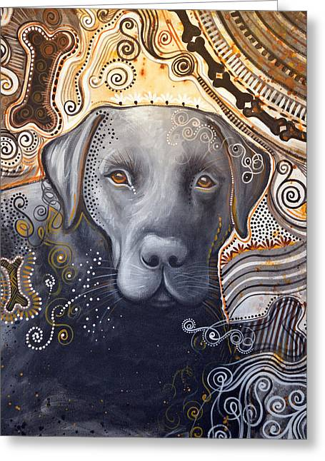 Abstract Dog Art Print ... Rudy Greeting Card
