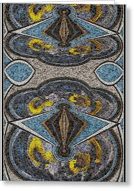 Abstract Door  Adoor000001 Greeting Card by Pemaro