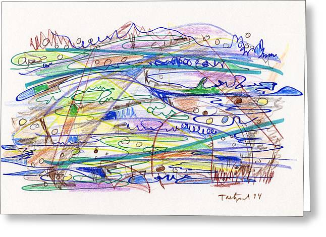 Abstract Drawing Eleven Greeting Card by Lynne Taetzsch