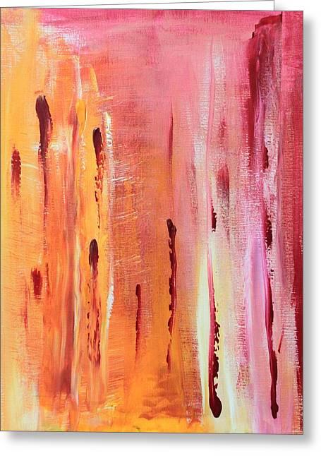 Abstract Drops  Greeting Card by AR Annahita