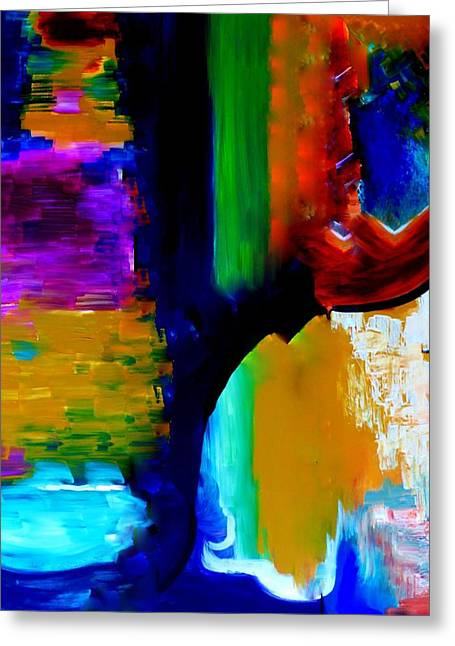 Greeting Card featuring the painting Abstract Du Colour by Lisa Kaiser