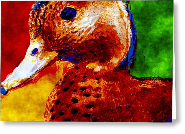 Abstract Duck Greeting Card