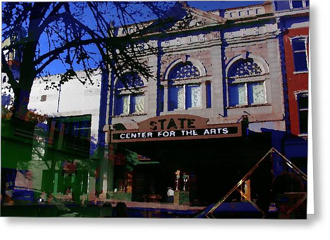 Abstract - Easton Pa - State Theater Center For The Arts Greeting Card by Jacqueline M Lewis
