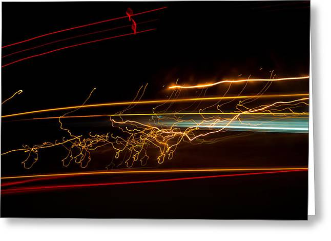 Abstract Evening Lights 1 Greeting Card by Chase Taylor