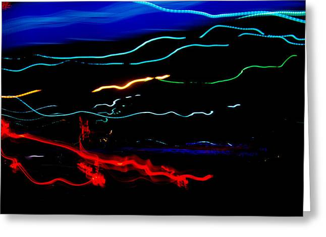 Abstract Evening Lights 2 Greeting Card by Chase Taylor