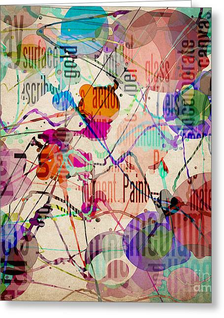 Greeting Card featuring the digital art Abstract Expressionism by Phil Perkins