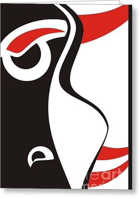 Abstract Face Greeting Card by Sankha Datta