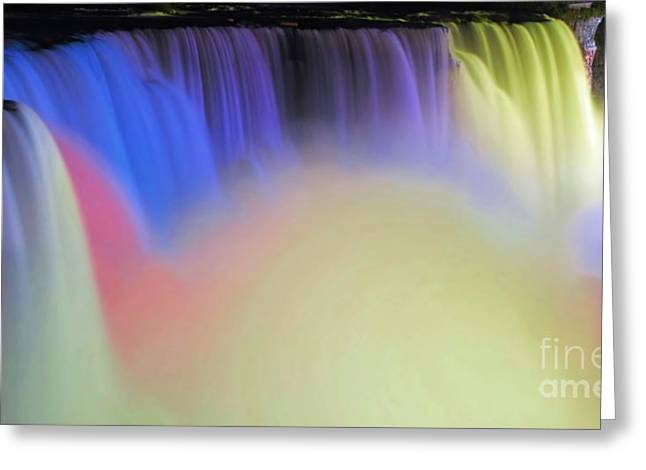 Abstract Falls Greeting Card by Kathleen Struckle