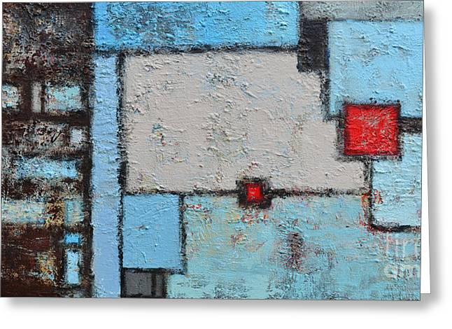 Abstract - Finding My Way Greeting Card by Patricia Awapara