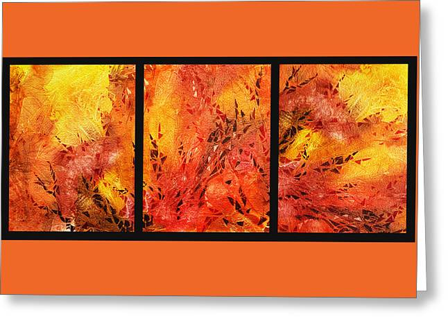 Abstract Fireplace Greeting Card