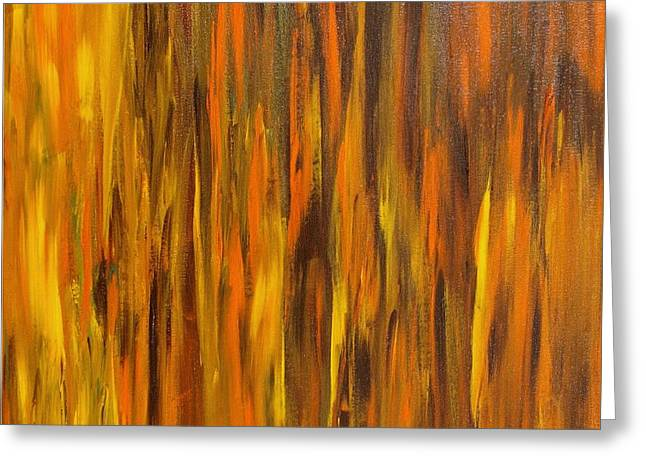 Abstract Fireside Greeting Card