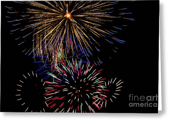 Abstract Firwoprks Greeting Card by Robert Bales