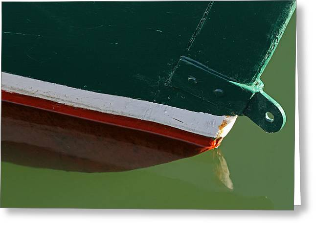Abstract Fishing Boat Bow Greeting Card by Juergen Roth