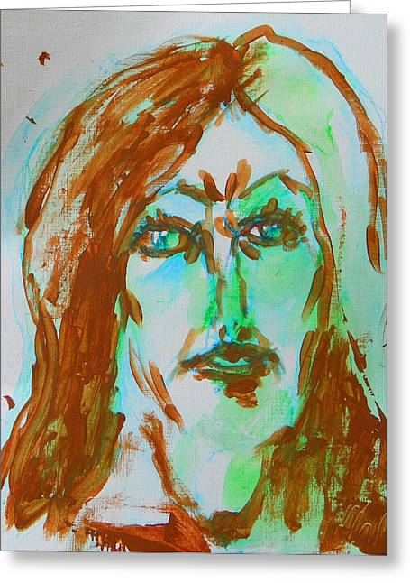 Abstract Flashes Of Joan Greeting Card