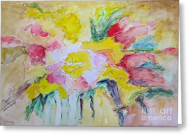 Abstract Floral Greeting Card by Barbara Anna Knauf
