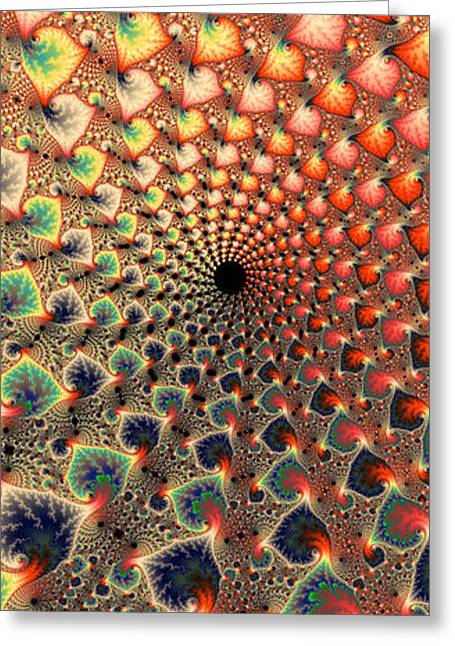 Abstract Floral Fractal Art Tall And Narrow Greeting Card by Matthias Hauser