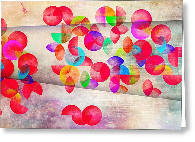 Abstract Floral  Greeting Card by Mark Ashkenazi