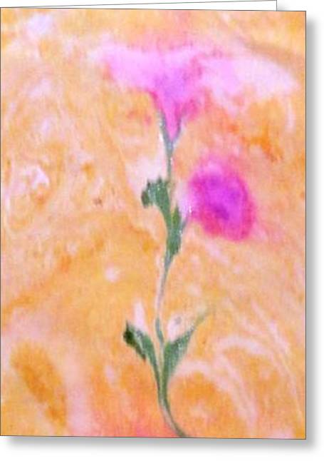 Greeting Card featuring the painting Abstract Floral by Mike Breau