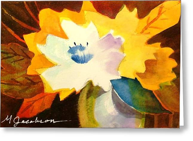 Abstract Flowers 2 Greeting Card by Marilyn Jacobson