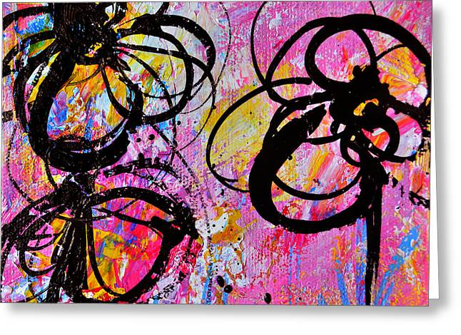 Abstract Flowers Silhouette 7 Greeting Card by Patricia Awapara