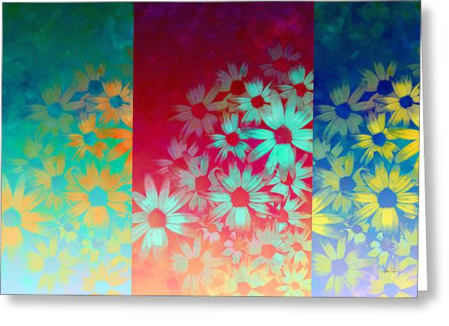 abstract  - flowers- Summer Joy Greeting Card by Ann Powell