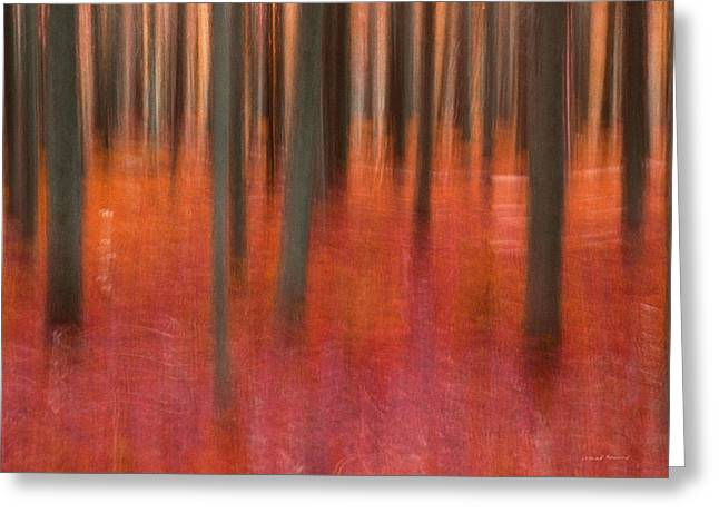 Abstract Forest 2 Greeting Card by Leland D Howard