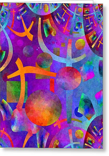 Abstract Fractillious - Episode One  Southwestern Greeting Card by Glenn McCarthy Art and Photography