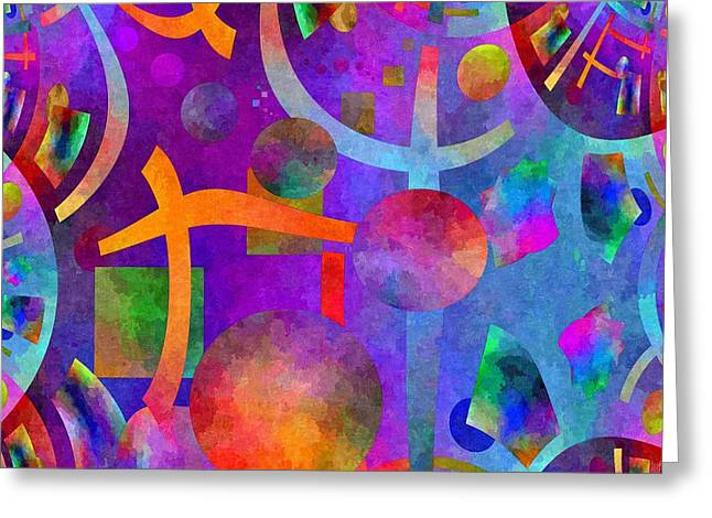 Abstract Fractillious - Episode One  Southwestern Greeting Card