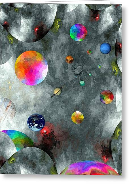 Abstract Fractillious-episode Two-creations Explosion Greeting Card by Glenn McCarthy Art and Photography