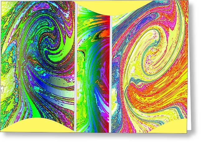 Abstract Fusion 188 Greeting Card by Will Borden