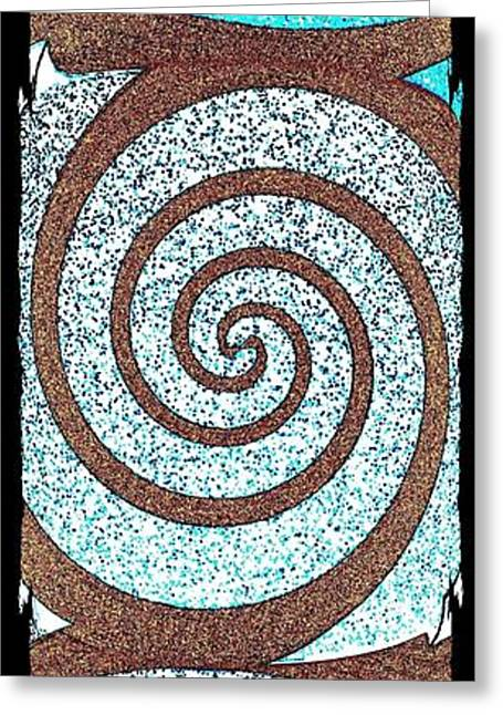 Abstract Fusion 231 Greeting Card by Will Borden