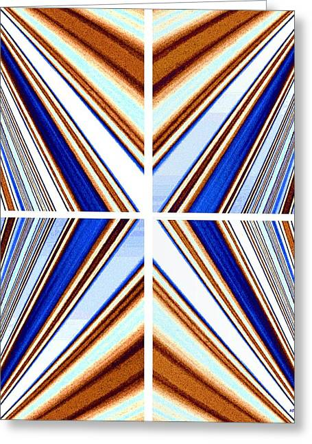 Greeting Card featuring the digital art Abstract Fusion 236 by Will Borden