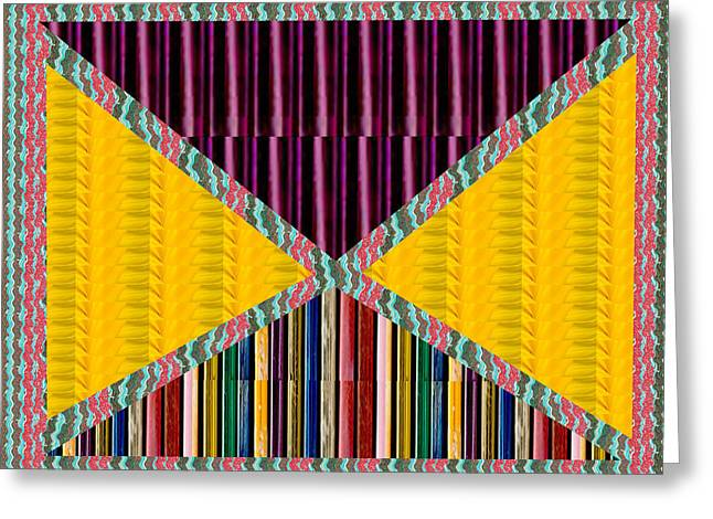 Abstract Geomatrical Vertical Dark Purple Triangle Rainbow Embossed Gas Lighter Container Stripes In Greeting Card