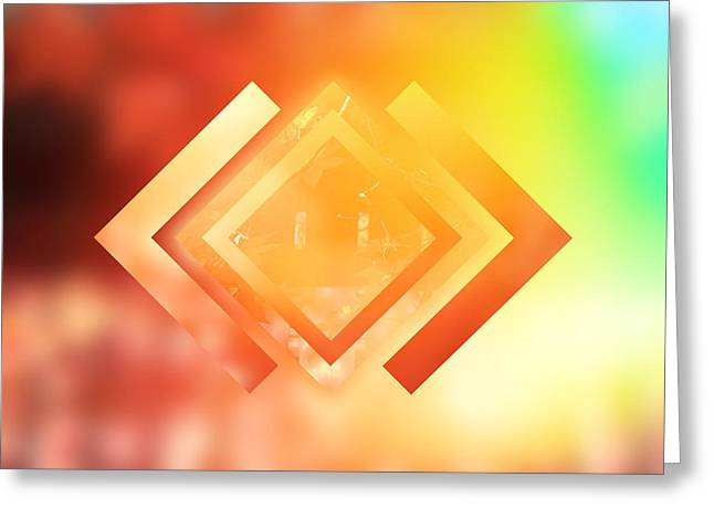 Abstract Geometric Gradient Colors Greeting Card