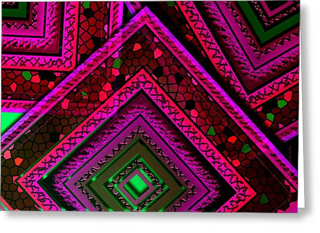 Abstract Geometry Of Textures And Shapes Greeting Card by Mario Perez