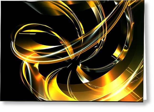 Abstract Glass Ribbon Greeting Card
