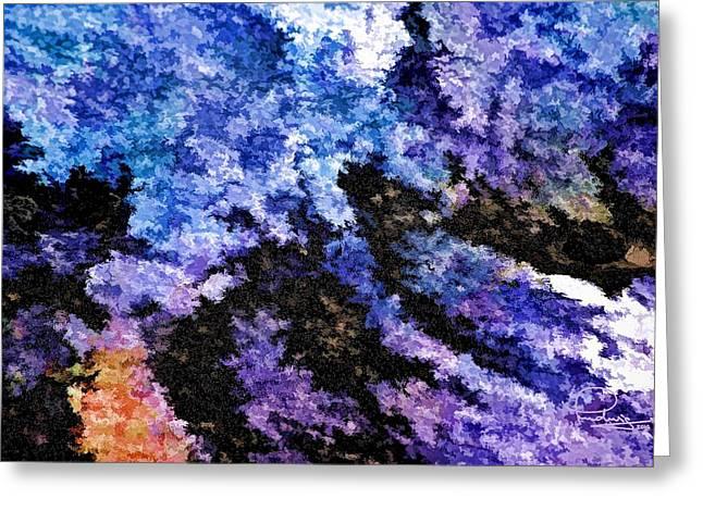 Abstract Granite Greeting Card