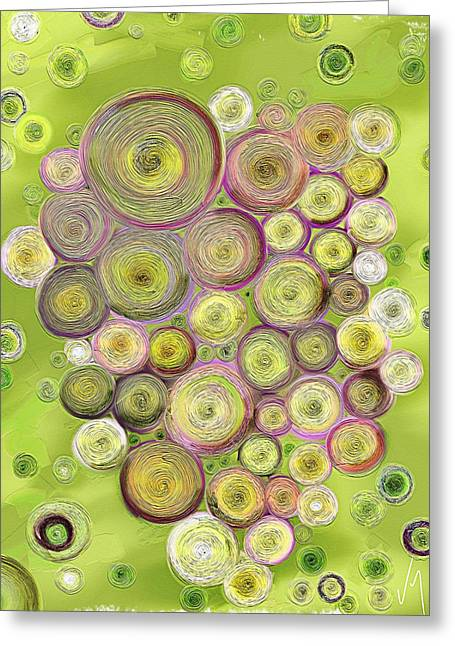 Abstract Grapes Greeting Card by Veronica Minozzi