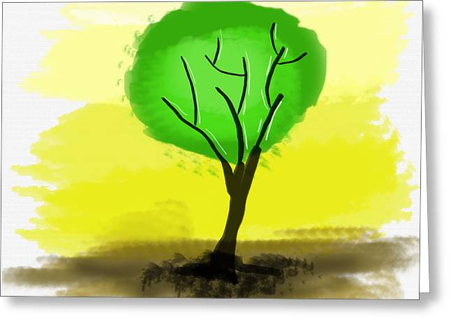 Abstract Green Tree  Greeting Card by Art Photography