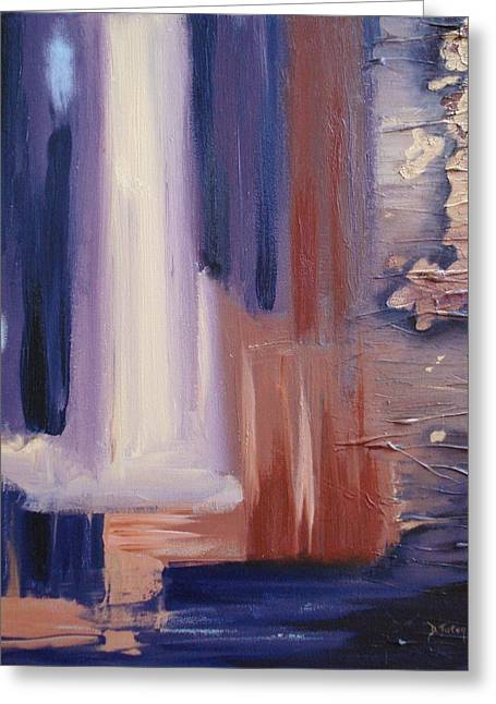 Greeting Card featuring the painting Abstract I by Donna Tuten