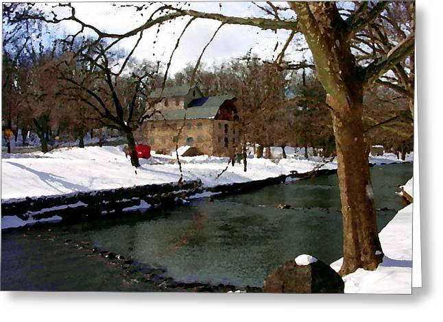 Abstract - Illicks Mill Bethlehem Pa Greeting Card by Jacqueline M Lewis