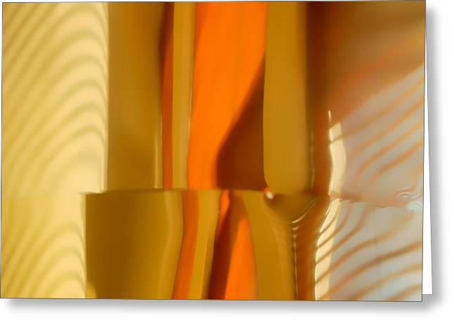 Abstract In Brass - 4 - Historic Library Building - Omaha Nebr Greeting Card by Nikolyn McDonald