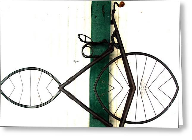 Abstract In Geometric Velocipede  Greeting Card by Steven Digman