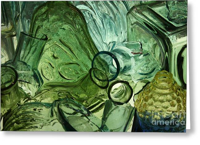 Abstract In Green Greeting Card