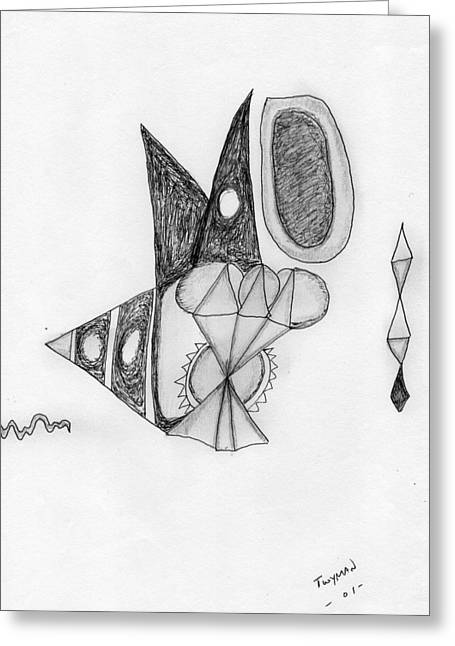 Abstract In Pencil Greeting Card by Dan Twyman