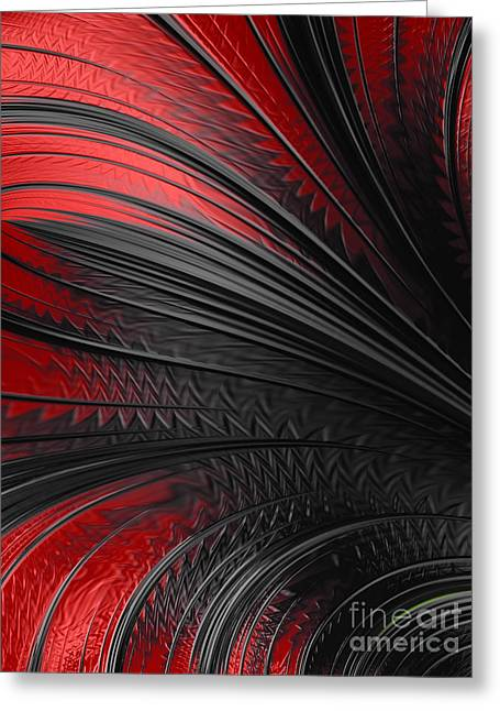 Abstract In Red And Black Greeting Card