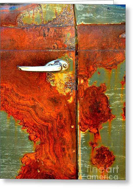 Abstract In Rust 24 Greeting Card by Newel Hunter