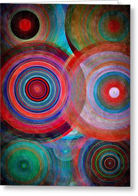 Abstract In Silk  Greeting Card